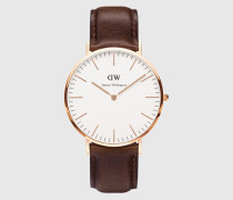 Uhr 'Classic Collection Bristol' gold/braun