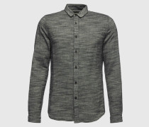 Hemd grau/schwarz