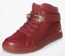 Hohe Sneaker mit Goldschnalle 'Storo' rot