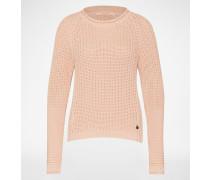 Pullover aus Grobstrick pink