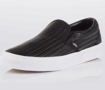 Slip-On aus Textil schwarz