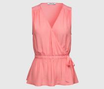 Peplum-Top in Wickeloptik 'Neli' pink