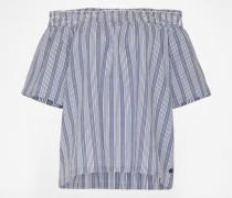 Offshoulder-Shirt 'Shoya' blau
