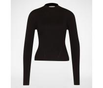 Cropped Pullover 'Birgit' schwarz