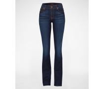 Bootcut Jeans mit Waschung blau