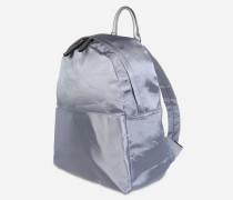 Rucksack mit glänzender Oberfläche silber
