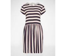 Kleid 'Vermund' blau/weiß