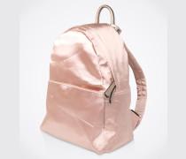 Rucksack, Metallic-Look beige