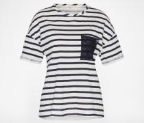T-Shirt 'ARGOR' blau/weiß