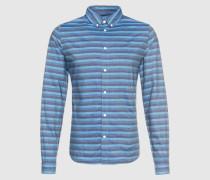 Hemd blau/grau