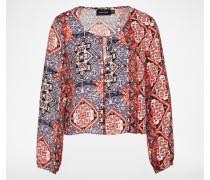 Kurze Bluse 'MAGESTIC CARPET' mehrfarbig
