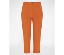 Bundfaltenhose 'STAND STILL PANT' braun/orange