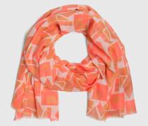 Oversize-Schal mit Print 'Hectic' pink