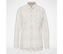 Hemd mit Fransen weiß