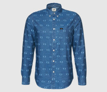 Jeanshemd 'AOP' blau