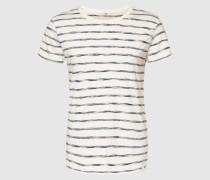 T-Shirt Stripe blau/weiß