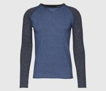 Pullover 'Craik' grau/blau
