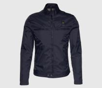Jacke mit elastischen Seiten-Einsätzen blau