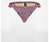 Bikini-Hose 'WILD' blau/rot