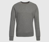 Sweatshirt im unifarbenen Design 'Sven' grau