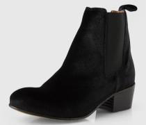 Chelsea-Boots in Samt-Optik 'SF London' schwarz