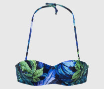 Bandeau-Bikini-Bustier mit Neckholder  'BJung 558 Sb' blau
