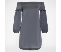 Schulterfreies Kleid 'Allie' grau