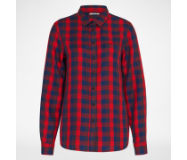 Jeansbluse rot
