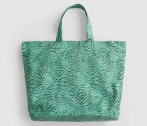 Shopper 'Samiah' grün/schwarz