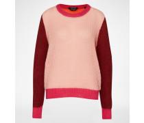 Strickpullover mit Mohairanteil pink/rot