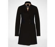 Mantel 'Bega Crombie' schwarz