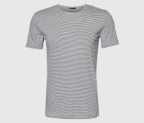 Gestreiftes T-Shirt 'Nestor' weiß
