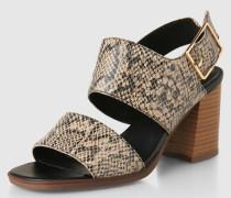 Sandalen 'Lea' beige/schwarz