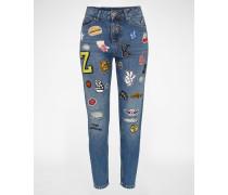 Boyfriend Jeans 'PATCHED UP' blau
