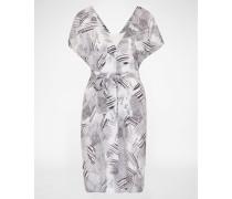Kleid mit grafischem Muster weiß