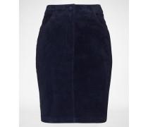Suede Skirt 'Tila' blau