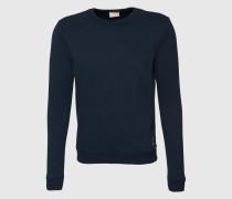 Sweatshirt mit Logo-Print blau