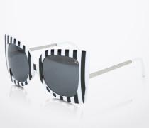 Sonnenbrille 'PHEBE' schwarz/weiß