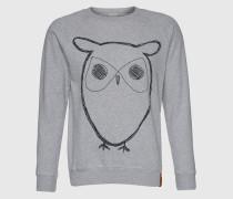 Sweatshirt mit Eulen-Print grau