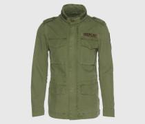 Jacke im Army-Stil grün