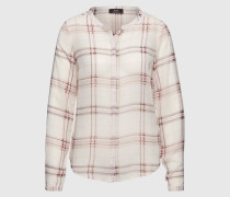Karobluse 'Gally Check' pink/weiß