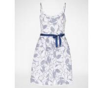 Camisolen-Kleid 'EISAL' blau/weiß