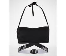 Bikini-Top mit Label-Bund schwarz