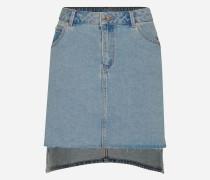 Minirock Jeans blau