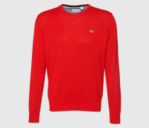 Pullover mit Rundhalsausschnitt rot