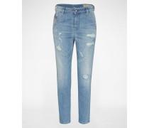 'Fayza-Evo' Jeans Tapered Fit 857F blau