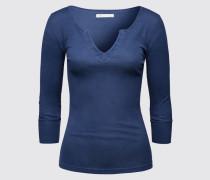 Baumwollshirt 'Lisbon' blau
