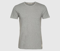 T-Shirt im unifarbenen Design 'Bunker' grau