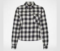 Bluse mit Karomuster schwarz/weiß