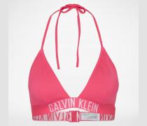 Bikinitop mit Logo-Bund pink